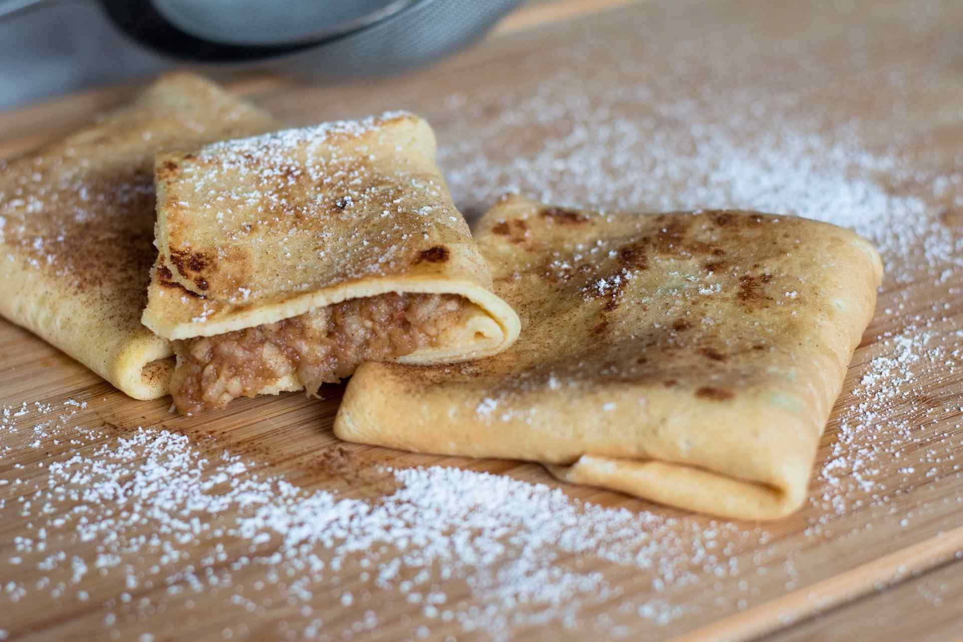 kitchen apples crepes